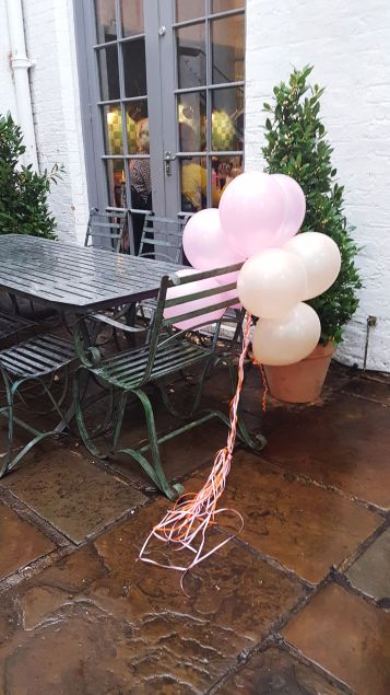 Pink balloons. Makelight meet up