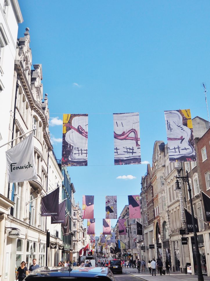Flags in Bond Street in celebration of 250 years of Art
