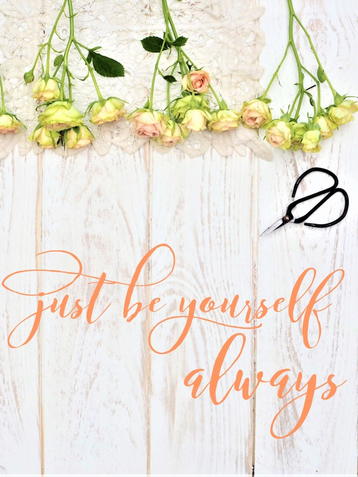 Inspirational Quote. Just be Yourself Always. One Purl Row digital download backdrop on Etsy. Just add your own words