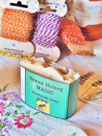 Handmade Honey Soap for sale in The Granary at the Wild Rose Flower Company
