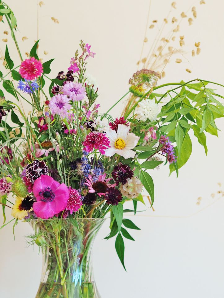 Bouquet of British Flowers from the Wild Rose Flower Company in Buckinghamshire
