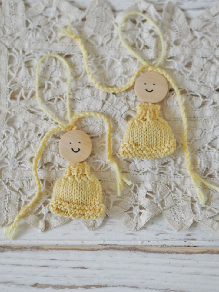 Lavender dolls in lemon and lace