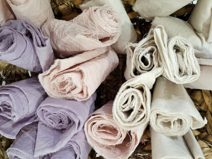 Natural dyed ribbons