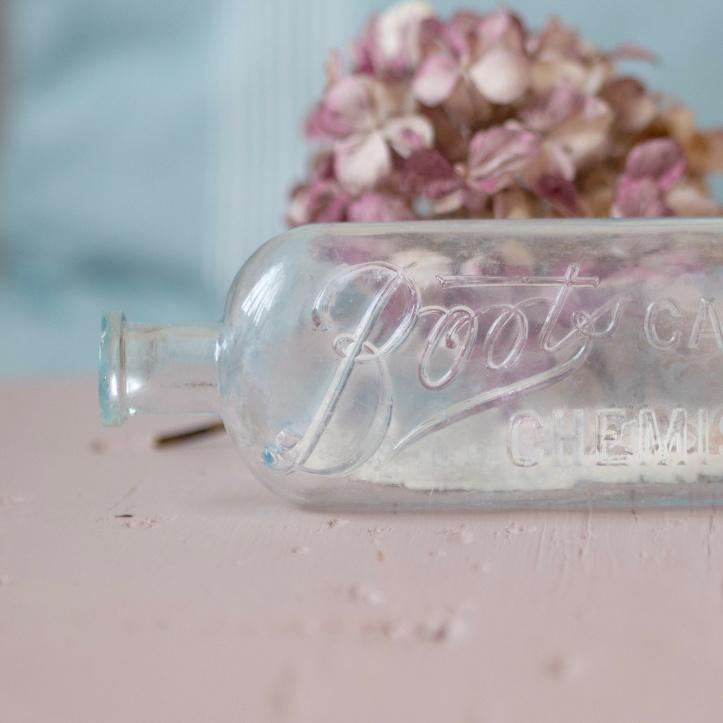 Boots Cash Chemist vintage glass bottle